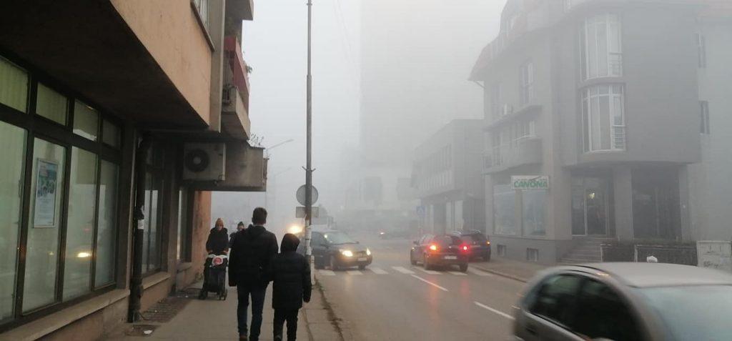 Zagađena atmosfera iznad Leskovca – prirodno i veštačko