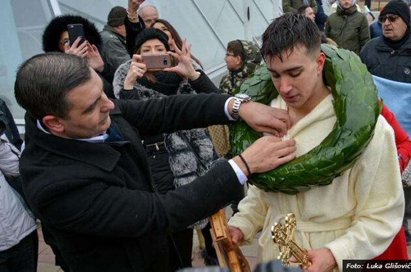 Najmlađi takmičar Andrija prvi do krsta u Nišu