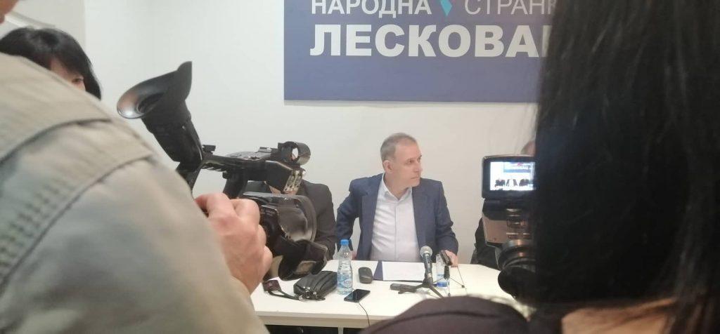 """Narodna stranka pozvala građane u Leskovcu da ne izlaze na """"lažne"""" izbore"""