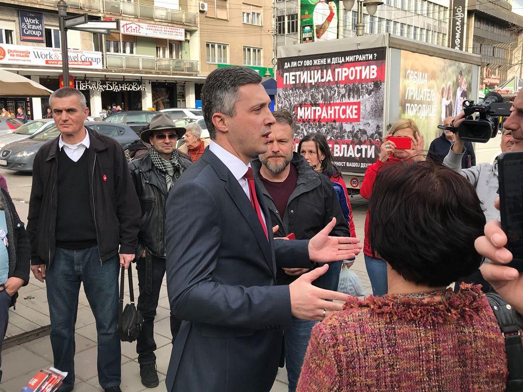 Boško Obradović u Nišu: Srbija je okupirana zemlja