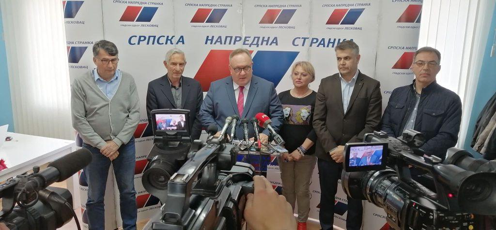 SNS na lokalne izbore u Leskovcu u koaliciji sa još pet stranaka, nosilac liste gradonačelnik
