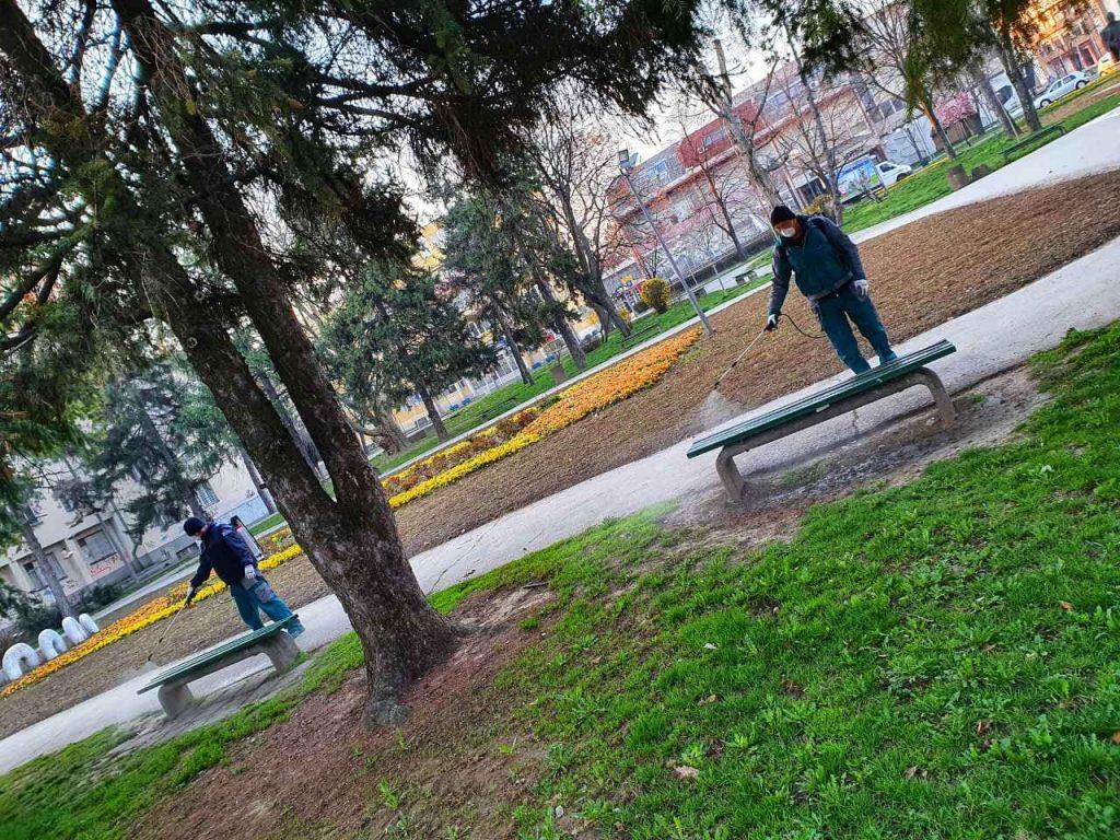 Počela dezinfekcija leskovačkih ulica i parkova