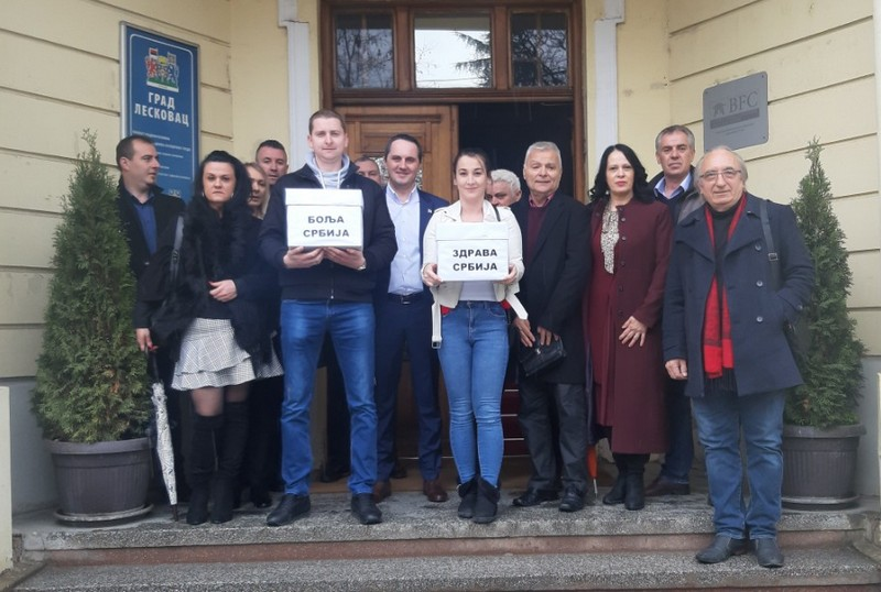 Bolja Srbija u Leskovcu predala kompletnu odborničku listu