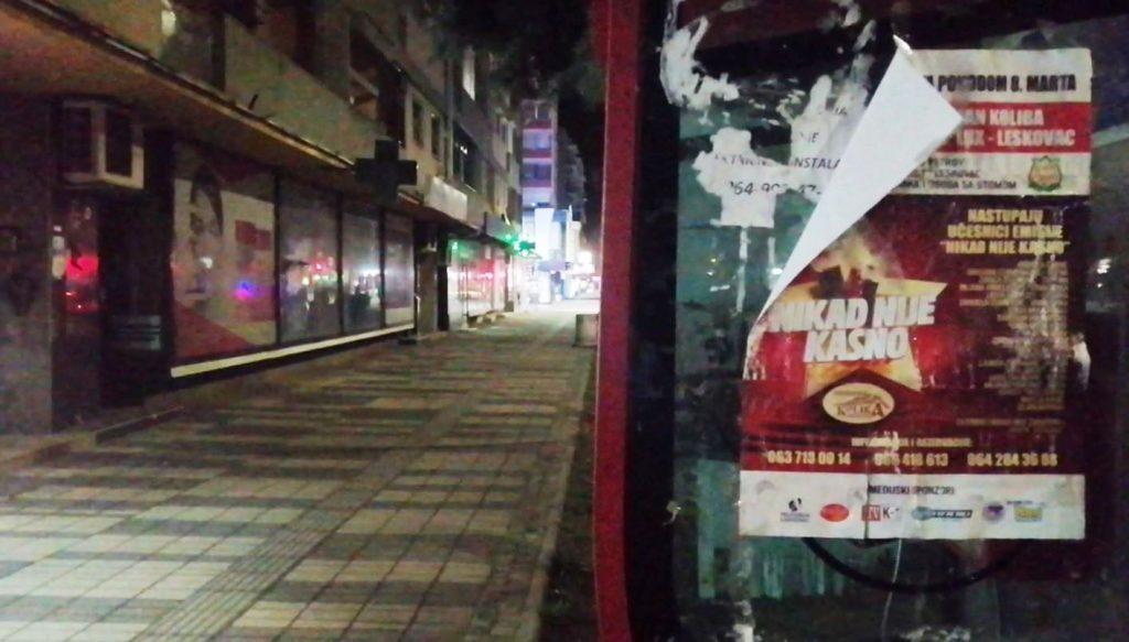 Puste ulice i jezivi odjek sopstvenih koraka: Leskovac u vreme policijskog časa – (VIDEO)