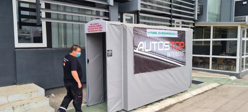 """""""Autostopinteriors"""" prva firma u Leskovcu s tunelom za dezinfekciju"""