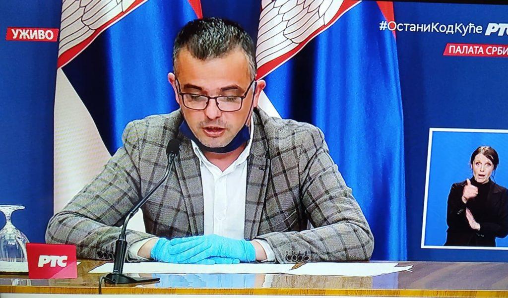 Nedimović: Sutra se zatvara privremena bolnica u Domu učenika u Nišu