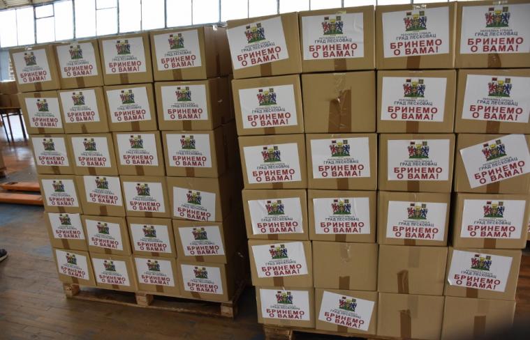 Podeljeni paketi penzionerima, ko nije dobio donaciju da se javi na 016/315-0-333