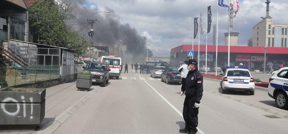 "Veliki požar u centru Leskovca, gore magacini ""Matreza"""