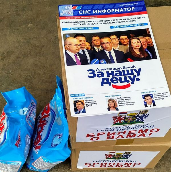 S paketima hrane za penzionere u Turekovcu i informator SNS