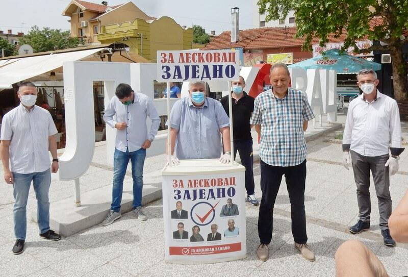 """Grupa građana """"Za Leskovac – zajedno"""" izilazi na lokalne """"pandemijske"""" izbore sa 57 kandidata (video)"""