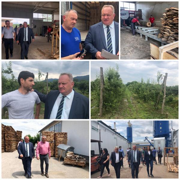 Gradonačelnik Leskovca u vučjanskom kraju obišao privrednike i škole
