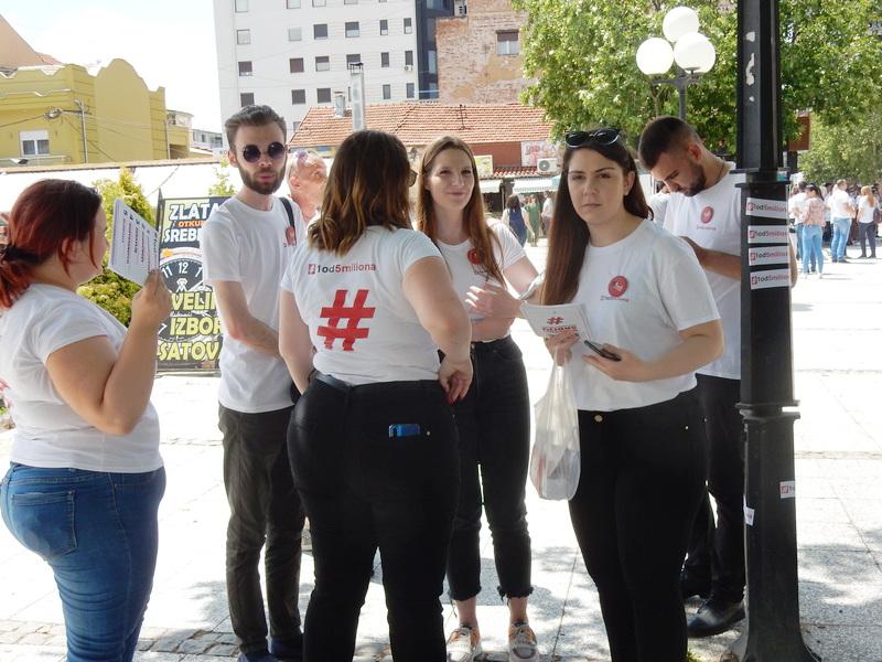 """Pokret """"1 od 5 miliona"""" danas u kampanji u Leskovcu"""