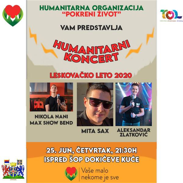 """Humanitarni koncert u organizaciji """"Pokreni Život"""" na Leskovačkom letu"""