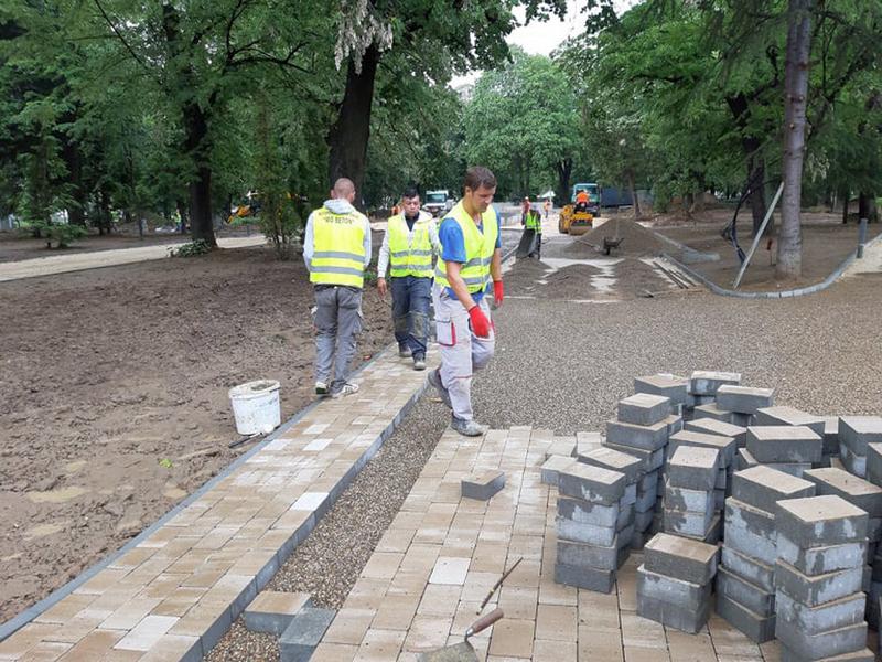 Gradski park u Vranju dobija prve konture novog izgleda