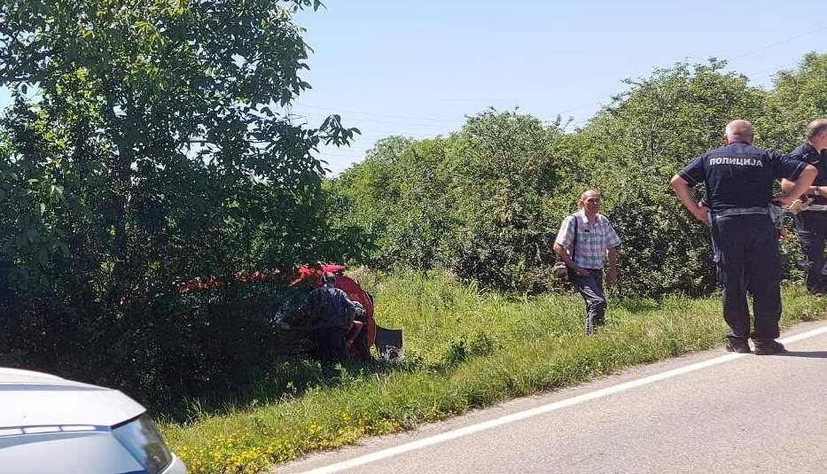 Kilometarska kolona na ulazu u Leskovac zbog tumbanja automobilom