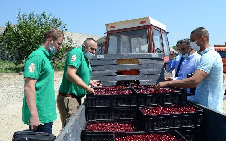 Predstavnici Ministarstva poljoprivrede i nadležne inspekcije kontrolišu otkup višnje u Prokuplju