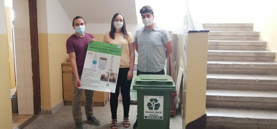 Studenti Tehnološkog fakulteta u Leskovcu pokrenuli akciju reciklaže stakla