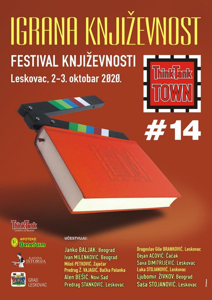 Igrana književnost na Festivalu književnosti ThinkTankTown 2. i 3. oktobra (program)