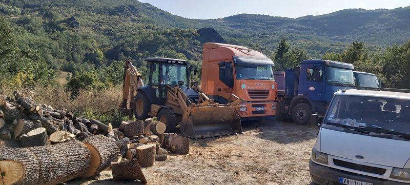 Počelo uređenje lokalnih puteva u opštini Medveđa