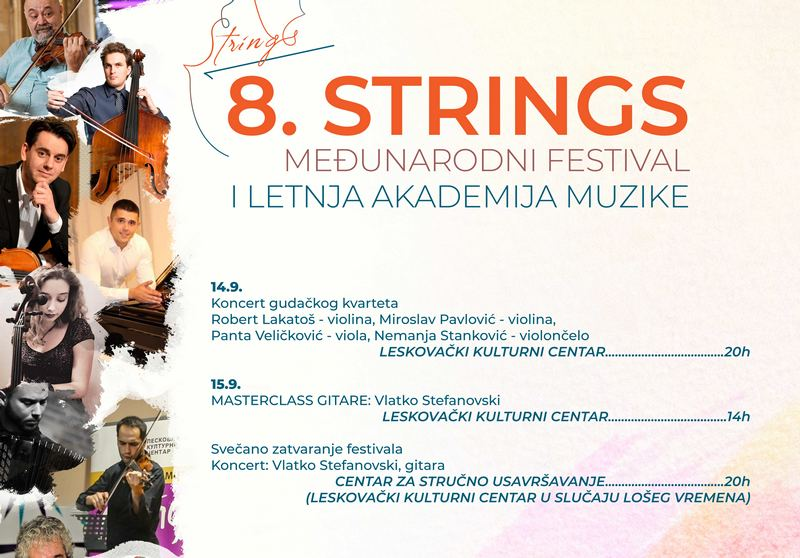 Večeras zatvaranje STRINGS-a koncertom Vlatka Stefanovskog