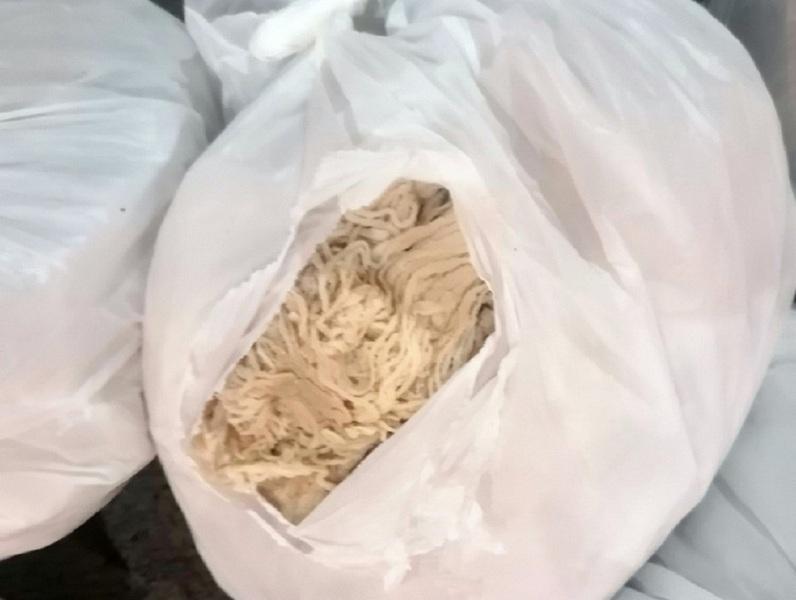 Zaplenjeno preko 100 kilograma creva za kobasice u vrednosti od oko 3 hiljade evra