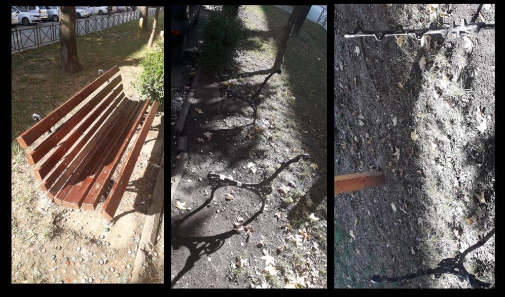 Ukrali daske sa klupe u centru Leskovca