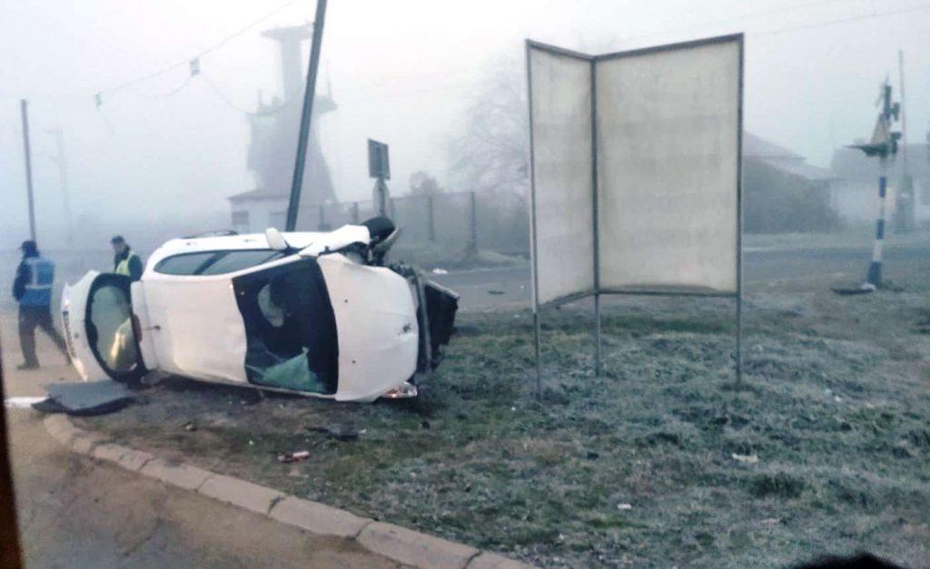 Žena se prevrnula automobilom kod pružnog prelaza u Leskovcu