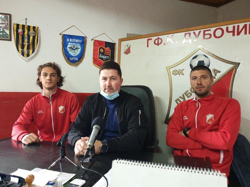 Fudbaleri Dubočice optimistični pred meč u Sremskoj Mitrovici