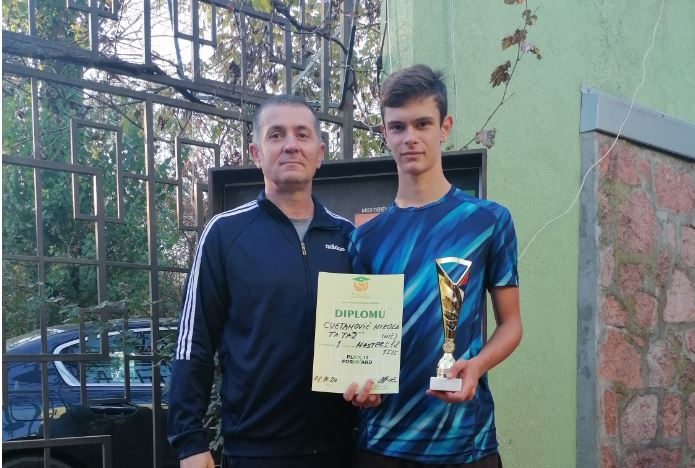 Teniser Nikola Cvetković potvrdio titulu prvaka istočne Srbije