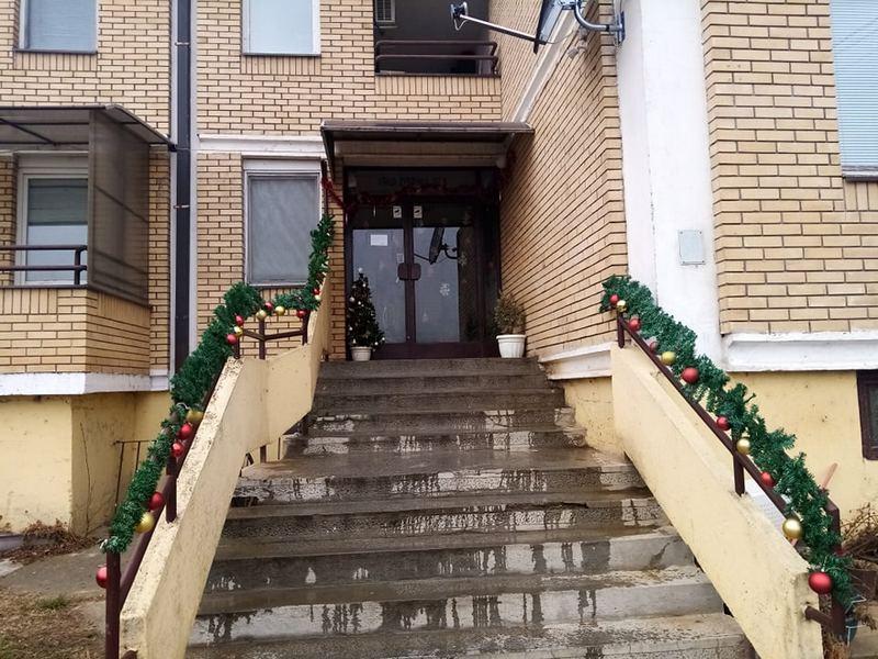 Maštovita Leskovčanka okitila ulaz sa 52 stana za novogodišnje i božićne praznike