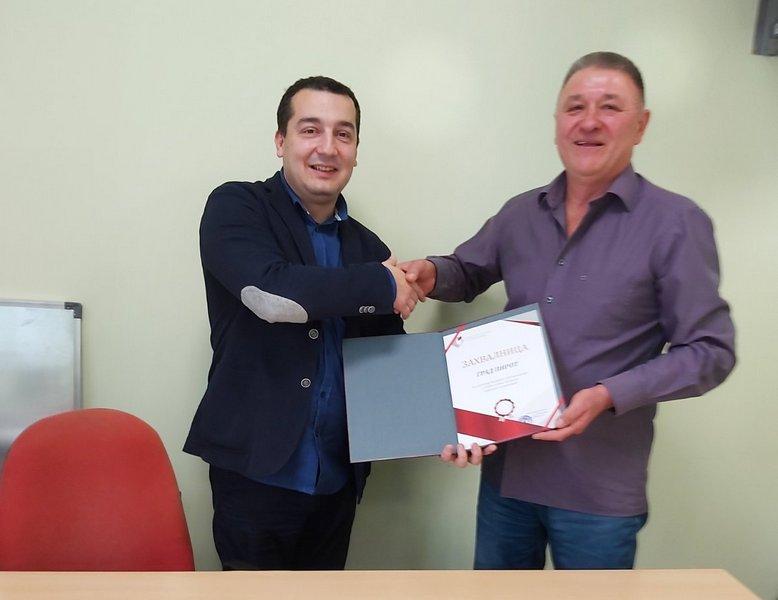 Zahvalnica NSZ-a Pirotu za ostvarene rezultate u oblasti zapošljavanja