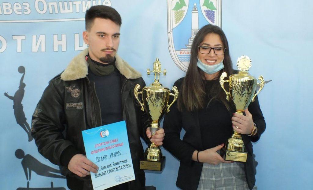 Dizač tegova i rukometašica proglašeni za najbolje sportiste u Vlasotincu