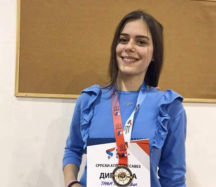 Tanja Antić iz Leskovca osvojila zlato na državnom prvenstvu u atletici