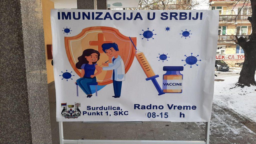 Sve veći odziv Surduličana za vakcinaciju