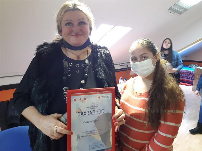 Milici Zdravković iz Brestovca nagrada na konkursu Crvenog krsta Srbije