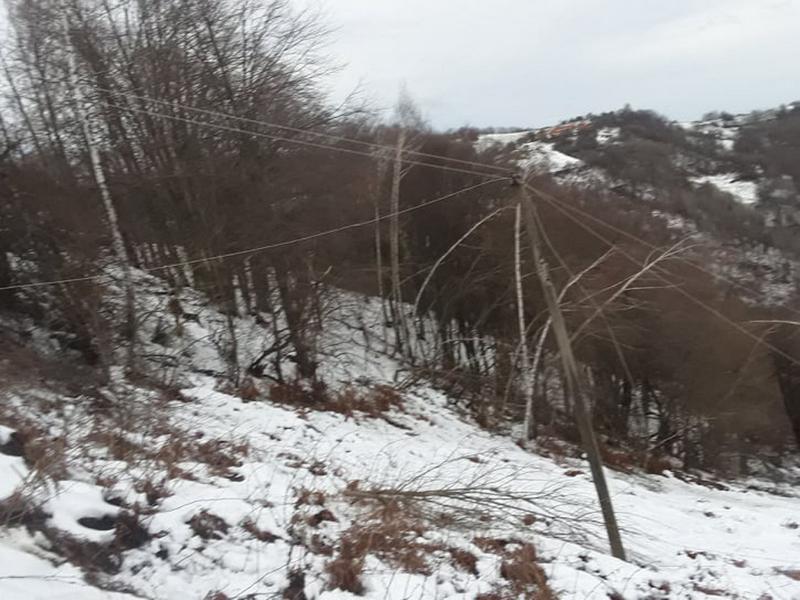 Sutra i u subotu 15 sela bez struje u opštini Medveđa