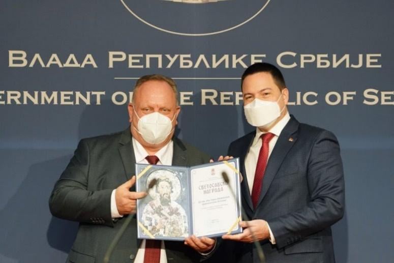 Među dobitnicima Svetosavske nagrade i gradonačelnik Leskovca