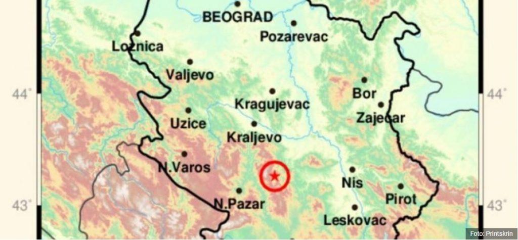 Zemljotresi zabeleženi i na jugu Srbije