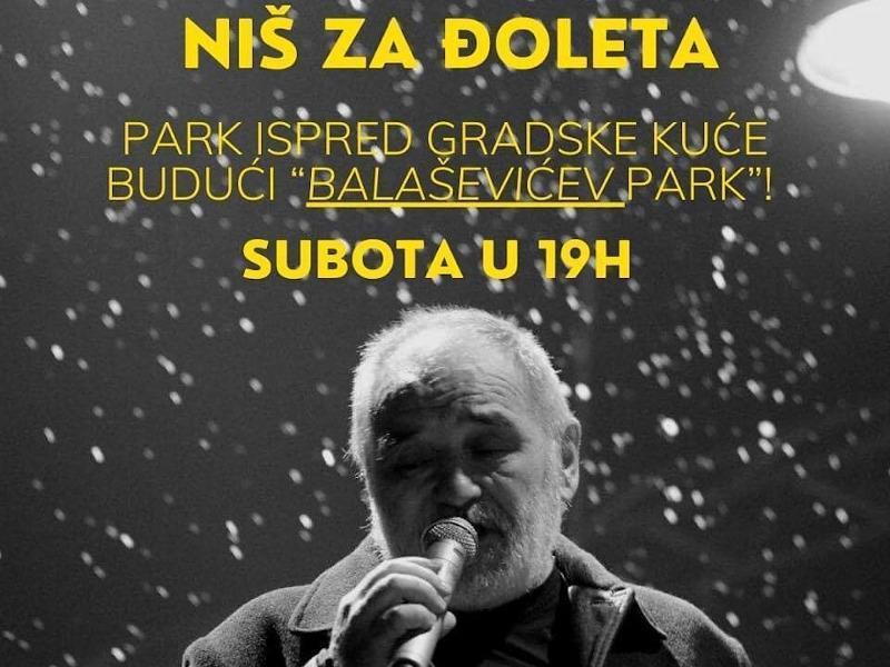 I Nišlije se večeras okupljaju da odaju poslednju počast Balaševiću