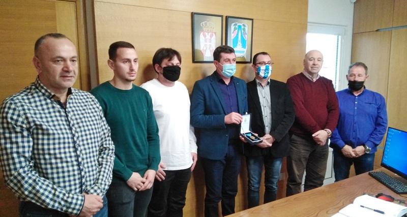 Prijem za FK Vlasina, dobitnika Sretenjskog priznanja