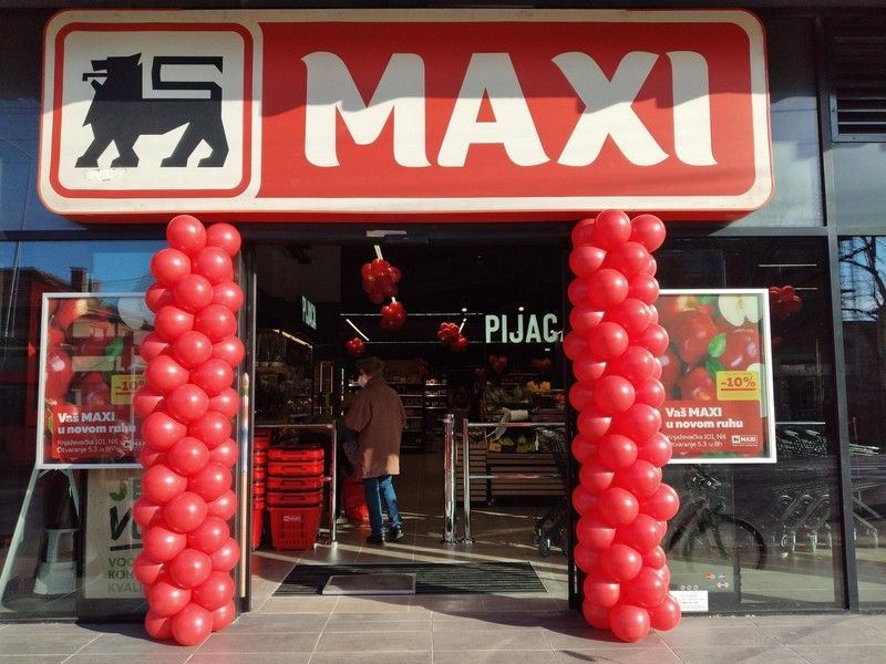 Maxi supermarket ponovo otvoren za kupce u Nišu