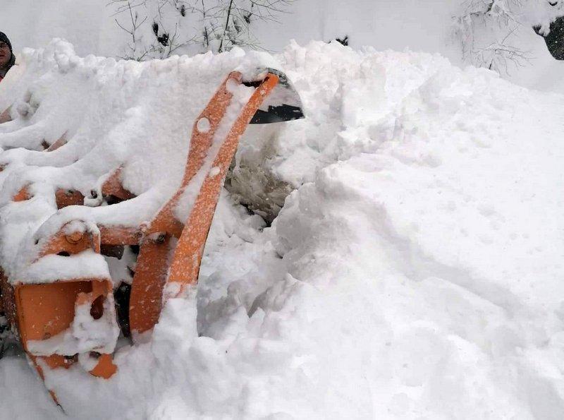 Pola metra snega u brdsko-planinskom delu vlasotinačke opštine