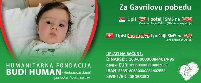 Niški zatvorenici donirali 300.000 dinara za lečenje malog Gavrila