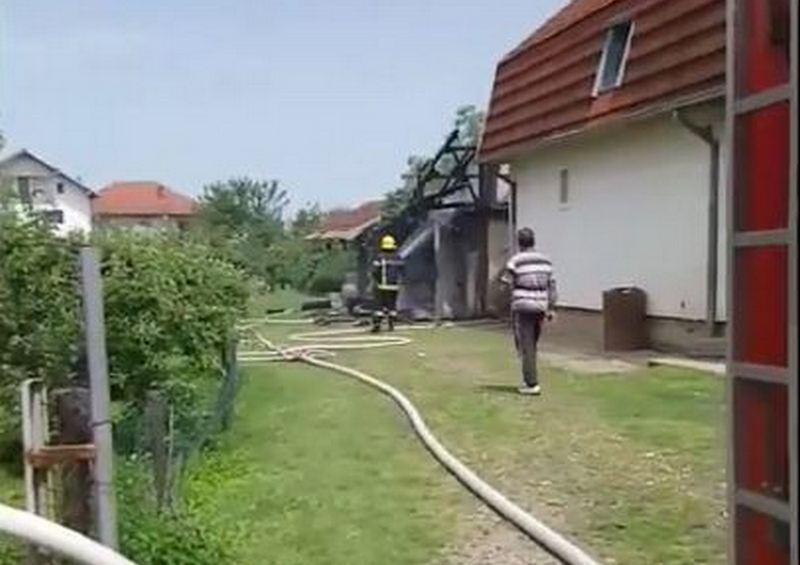 Požar u Radonjici kod Leskovca (video)
