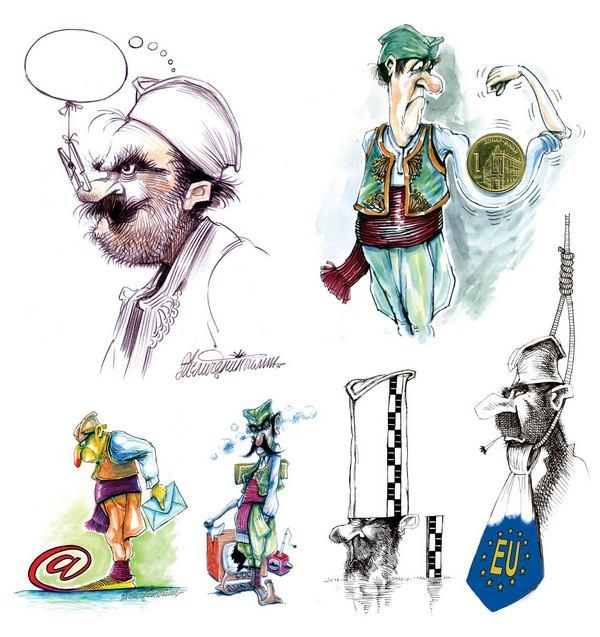 Izložba karikatura o šajkači u vlasotinačkoj biblioteci
