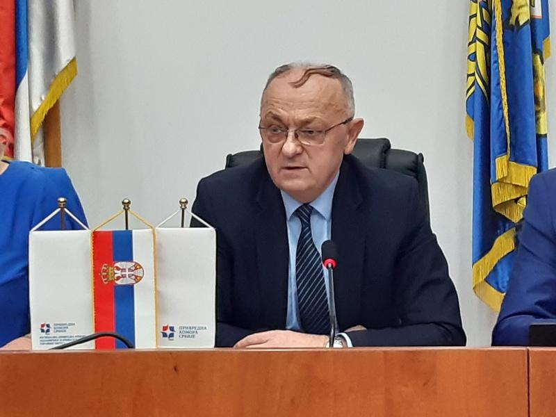 """Generalni direktor """"Simpa"""" predsednik Parlamenta Privredne komore dva okruga"""