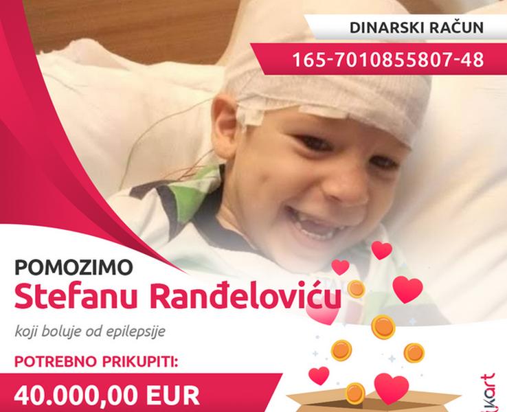 Malom Stefanu potrebno još 40.000 evra za operaciju