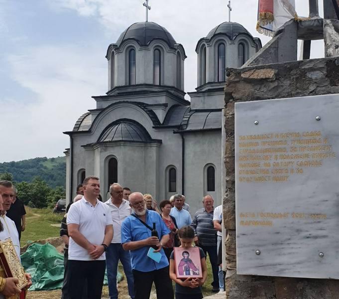 Obeležavanje litija i otkrivanje spomenika palim borcima u Marovcu