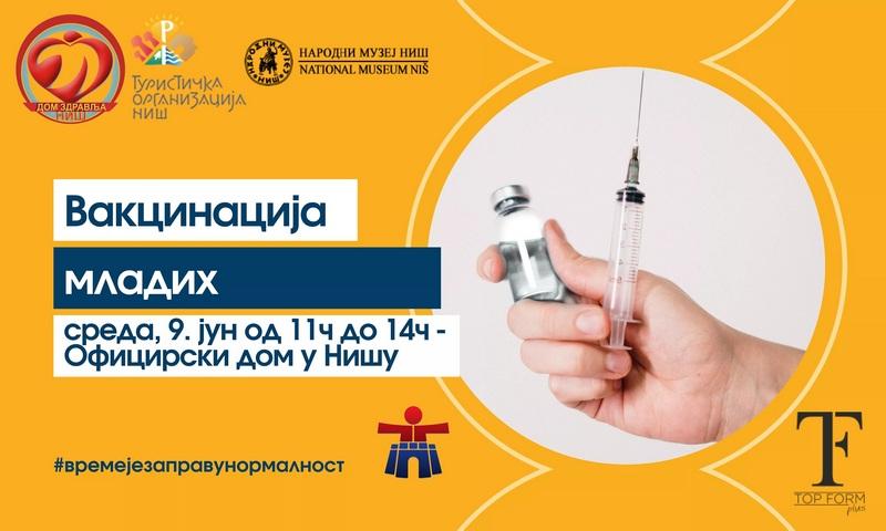 Vakcinacija mladih u Oficirskom domu 9. juna