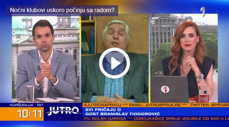 Tiodorović: Svadbe se već organizuju, a i klubovi bi trebalo uskoro da počnu da rade